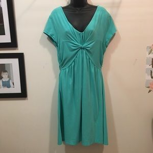 Garnet Hill knit garden party twist knot dress 14